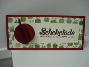 Schoki mal in Apfelform