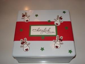 Keksdose Weihnachtlich