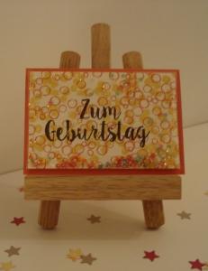 Geburtstagskarte für Bastellegastheniker