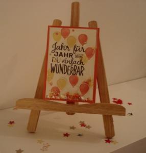 Geburtstagskarte mit viel Glitter