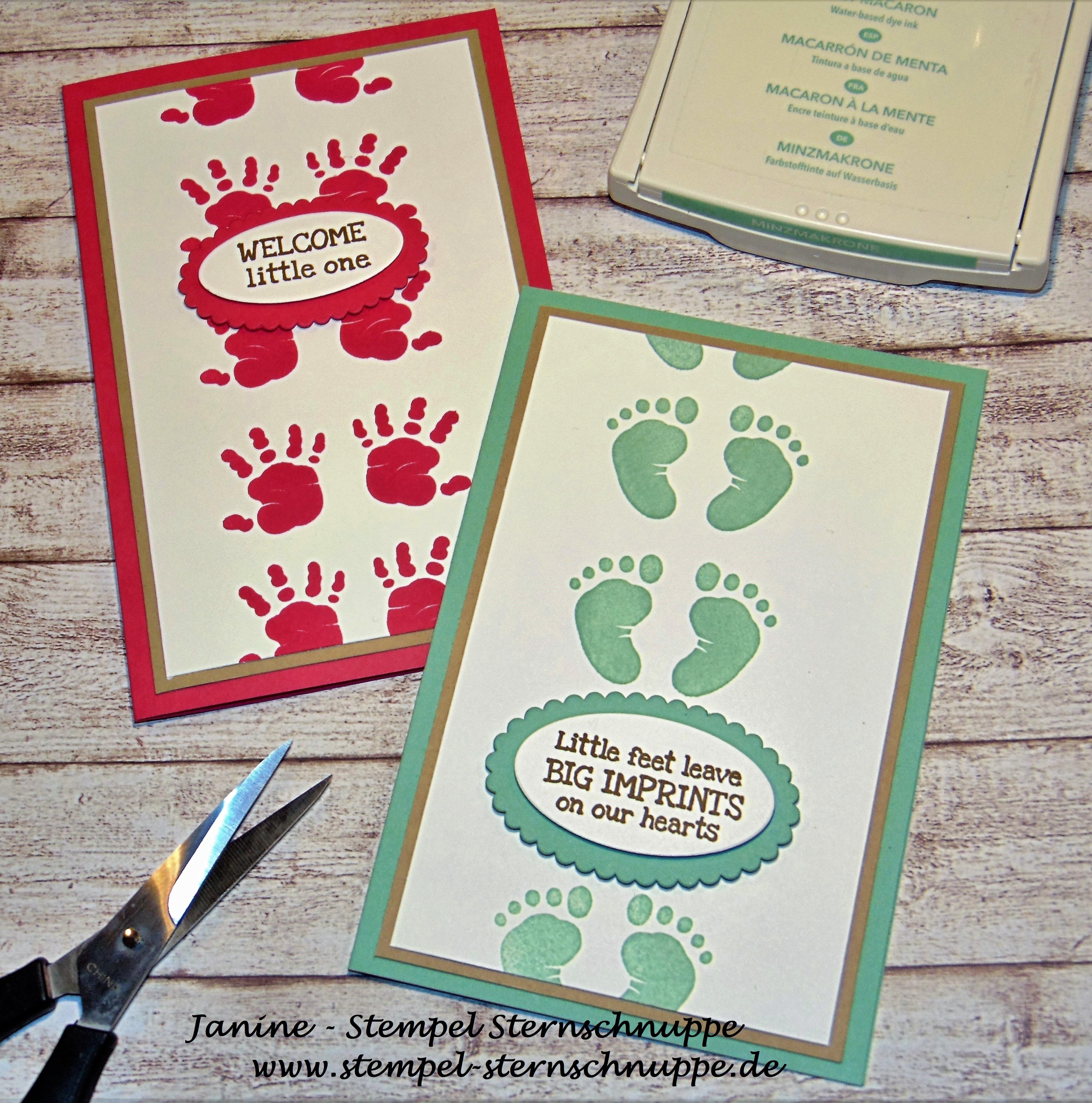 Babykarte Stempel Sternschnuppe